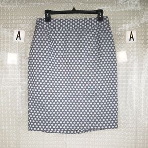 Calvin Klein | Cotton Blend Polka Dot Pencil Skirt